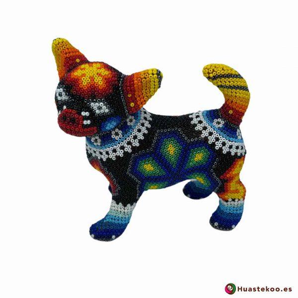 Perrito en Arte Huichol de la Tienda de Regalos Mexicanos Huastekoo España y Europa - H00755 - 2