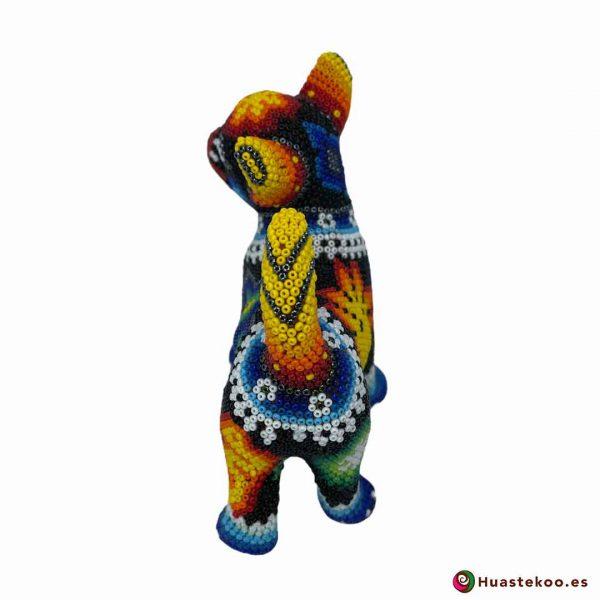 Perrito en Arte Huichol de la Tienda de Regalos Mexicanos Huastekoo España y Europa - H00755 - 3