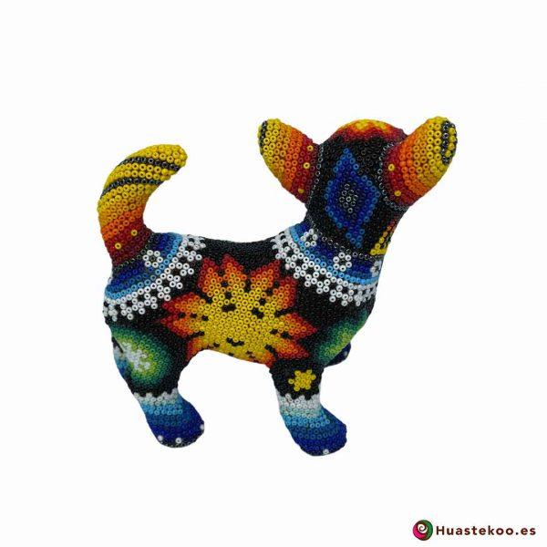 Perrito en Arte Huichol de la Tienda de Regalos Mexicanos Huastekoo España y Europa - H00755 - 4