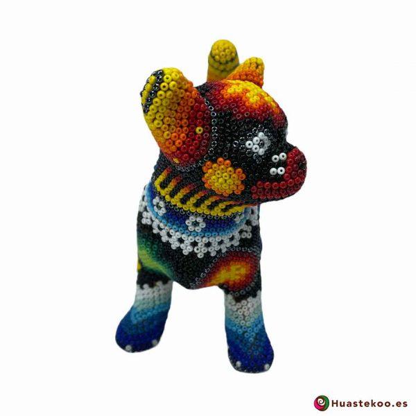 Perrito en Arte Huichol de la Tienda de Regalos Mexicanos Huastekoo España y Europa - H00755 - 5