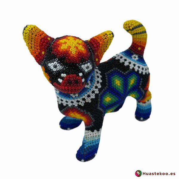 Perrito en Arte Huichol de la Tienda de Regalos Mexicanos Huastekoo España y Europa - H00755