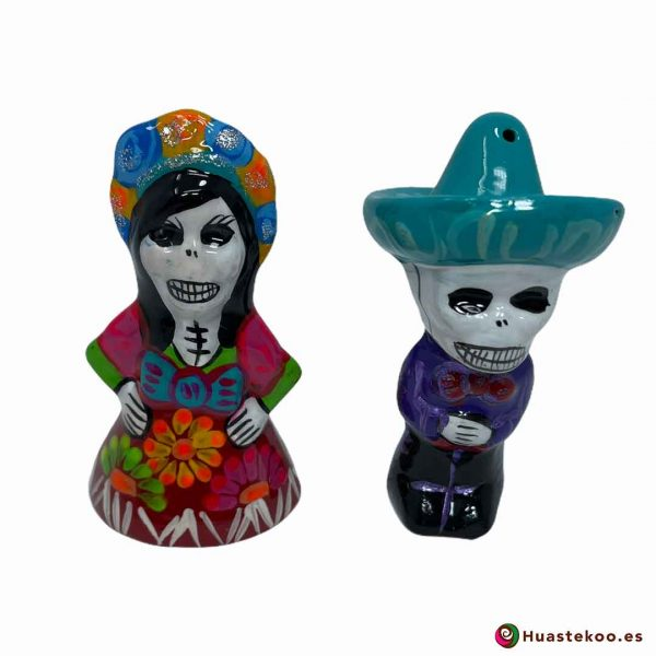 Salero y Pimentero de cerámica mexicana de la tienda de regalos mexicanos Huastekoo España y Europa - H00599