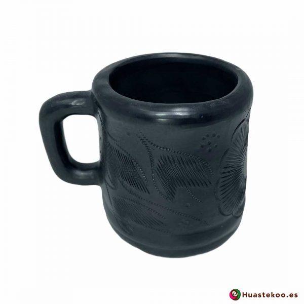 Taza de cerámica de barro negro mexicano de venta en la tienda mexicana Huastekoo España y Europa - H00718 - 4