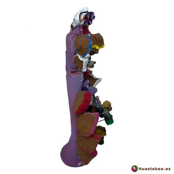 Árbol de la vida mexicano calaveras y flores - Tienda Mexicana Online - Huastekoo España - H00661 - 4