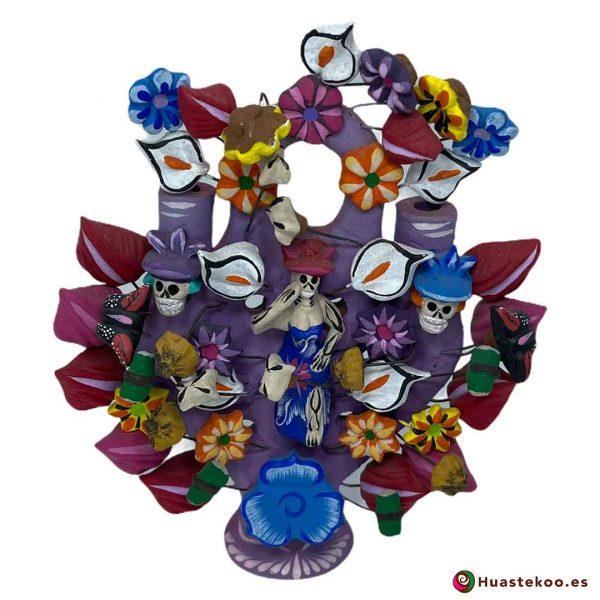 Árbol de la vida mexicano calaveras y flores - Tienda Mexicana Online - Huastekoo España - H00661
