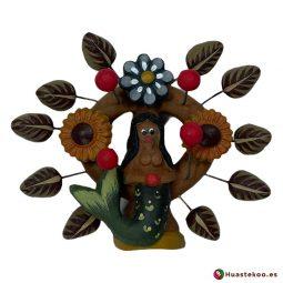 Árbol de la vida mexicano modelo sirena H00659 a la venta en la tienda de artesanía y regalos originales mexicanos Huastekoo España