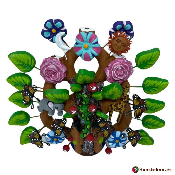 Árbol de la vida mexicano pequeño - Tienda de Artesanía y Regalos Mexicanos - Huastekoo España - H00663