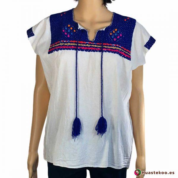 Blusa mexicana artesanal bordada a mano - Tienda de regalos y ropa mexicana Huastekoo España - H00125