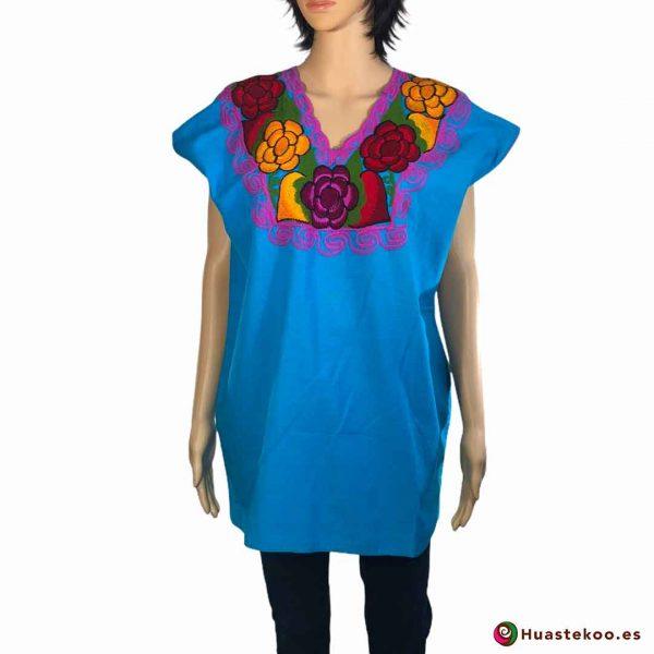 Blusa Mexicana Bordada H00028 - Tienda Online de Regalos Mexicanos Huastekoo España