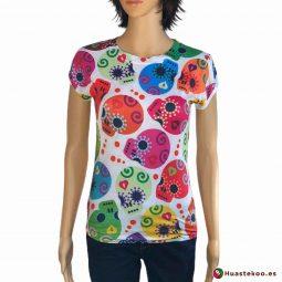 Blusa Mexicana de Calaveras Ref. H00039 a la venta en la tienda online de regalos mexicanos Huastekoo España