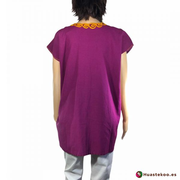 Comprar Blusa Mexicana morada o violeta H00029 a la venta en la tienda online de regalos y ropa mexicana Huastekoo España - 2