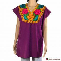 Comprar Blusa Mexicana morada o violeta H00029 a la venta en la tienda online de regalos y ropa mexicana Huastekoo España