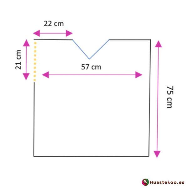 Comprar Blusa Mexicana morada o violeta H00029 a la venta en la tienda online de regalos y ropa mexicana Huastekoo España - 3