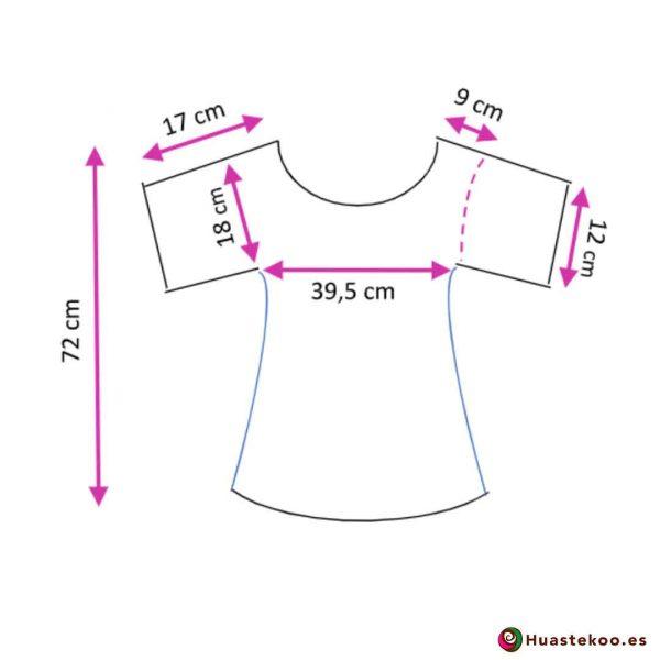 Comprar Blusa Mexicana Fridalia H00036 a la venta en la tienda de regalos mexicanos Huastekoo España - 3
