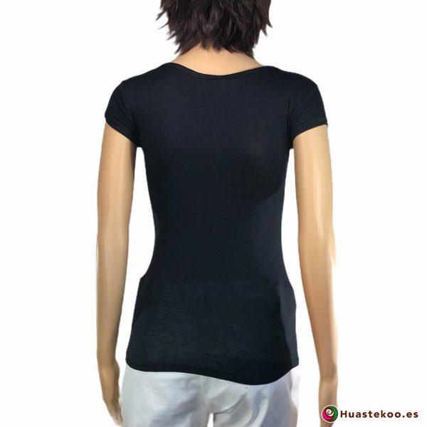 Comprar Blusa Mexicana Calavera H00037 a la venta en la tienda online de regalos y ropa mexicana Huastekoo España - 2