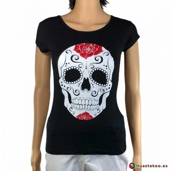Comprar Blusa Mexicana Calavera H00037 a la venta en la tienda online de regalos y ropa mexicana Huastekoo España
