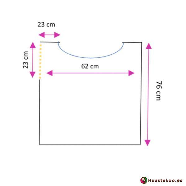 Blusón Mexicano de Telar H00041 - Tienda de Regalos y Ropa Mexicana Huastekoo España - 3