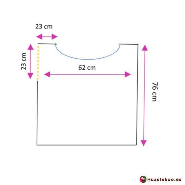 Blusón Mexicano de Telar H00042 - Tienda Online de regalos y Ropa Mexicana Huastekoo España - 3