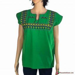 Blusa Mexicana Bordada a Mano H00031 - Tienda Online de Regalos Originales Mexicanos Huastekoo España