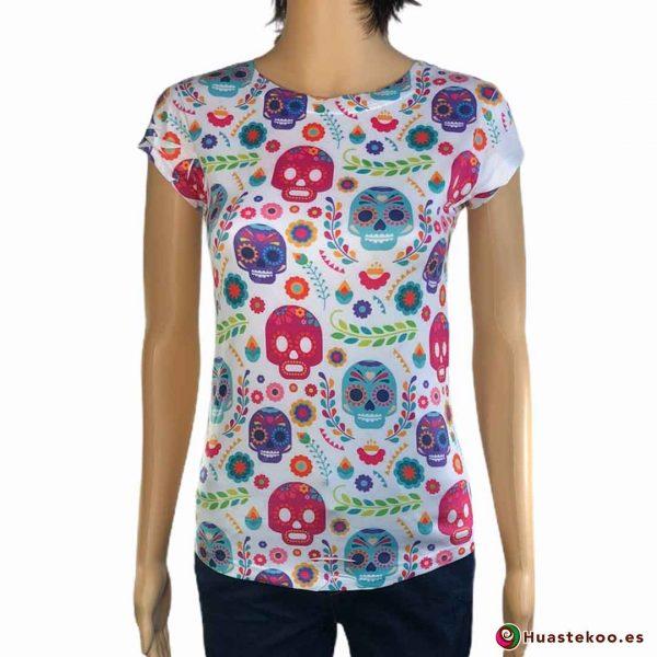 Blusa Camiseta Calaveras H000040 - Tienda Mexicana Online - Huastekoo España