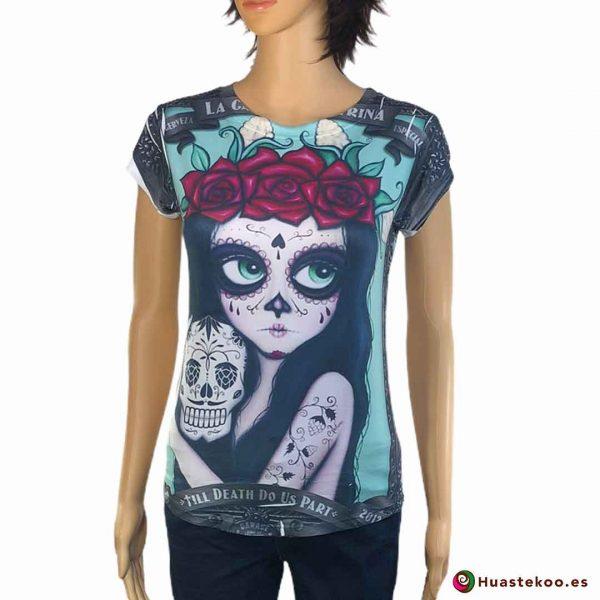 Blusa Camiseta Mexicana H00038 - Tienda Mexicana Online Huastekoo España