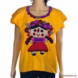 Blusa mexicana modelo María o Lele - Tienda de Regalos y Ropa Artesanal Mexicana - Huastekoo España - H00030