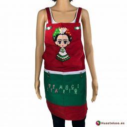 Comprar delantal mexicano Frida lia Viva México - Tienda Mexicana Online - Huastekoo España - H00444