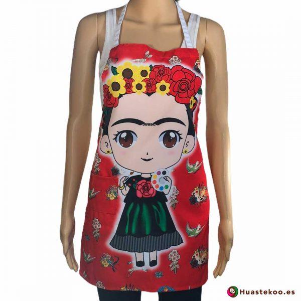 Delantal mexicano Frida lia - Tienda Mexicana Online - Huastekoo España - H00540