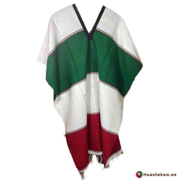 Comprar gabán o poncho mexicano a la venta en la tienda online de ropa mexicana Huastekoo España - H00775 - 2