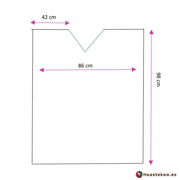 Comprar gabán o poncho mexicano a la venta en la tienda online de ropa mexicana Huastekoo España - H00775 - 3