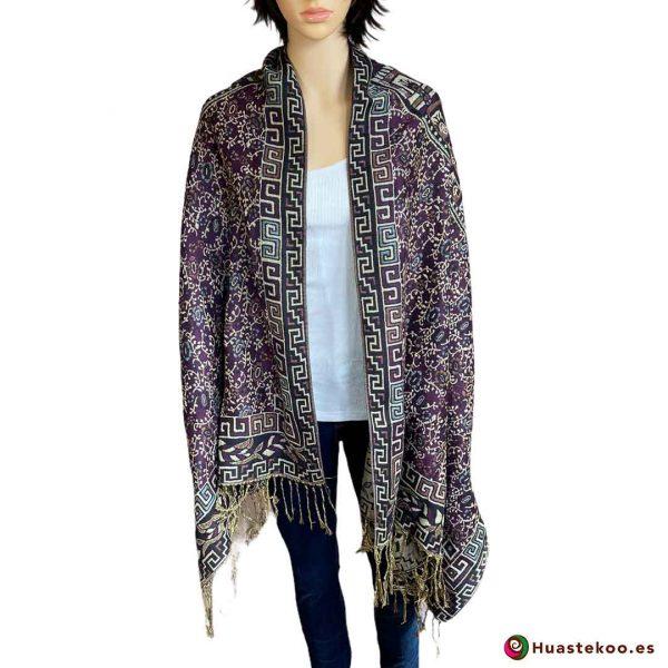 Rebozo mexicano (fular) color cálido - Tienda de ropa mexicana Huastekoo España H00008 - 3