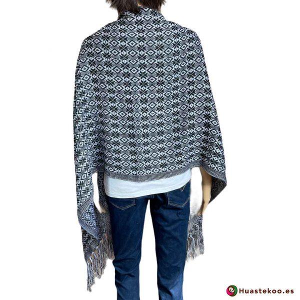 Rebozo o fular mexicano color oscuro - Tienda Mexicana Online - Huastekoo España - H00003 - 2