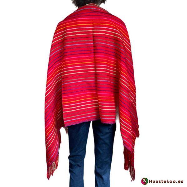 Rebozo (Fular) Mexicano Rojo H00010 - Tienda de Ropa Mexicana Huastekoo España - 2