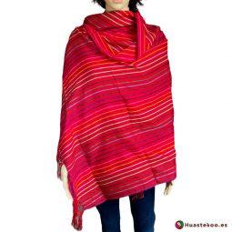 Rebozo (Fular) Mexicano Rojo H00010 - Tienda de Ropa Mexicana Huastekoo España