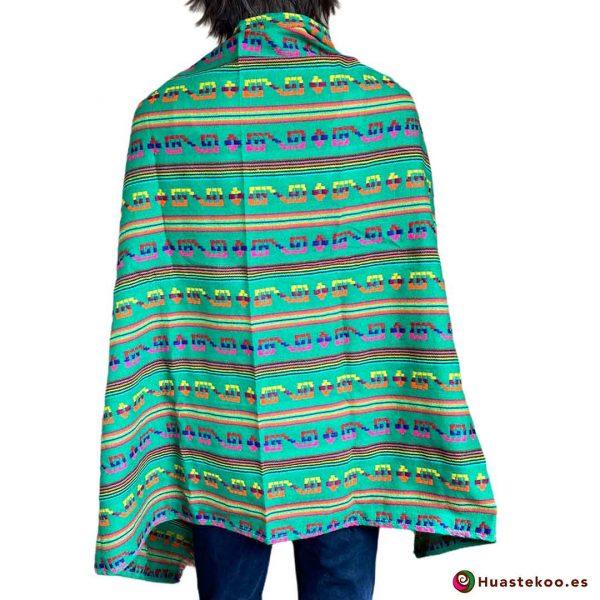 Rebozo (Fular) Mexicano verde H00004 de venta en la tienda mexicana online Huastekoo España - 2