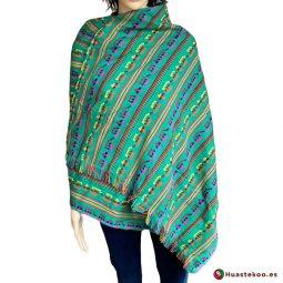Rebozo (Fular) Mexicano verde H00004 de venta en la tienda mexicana online Huastekoo España