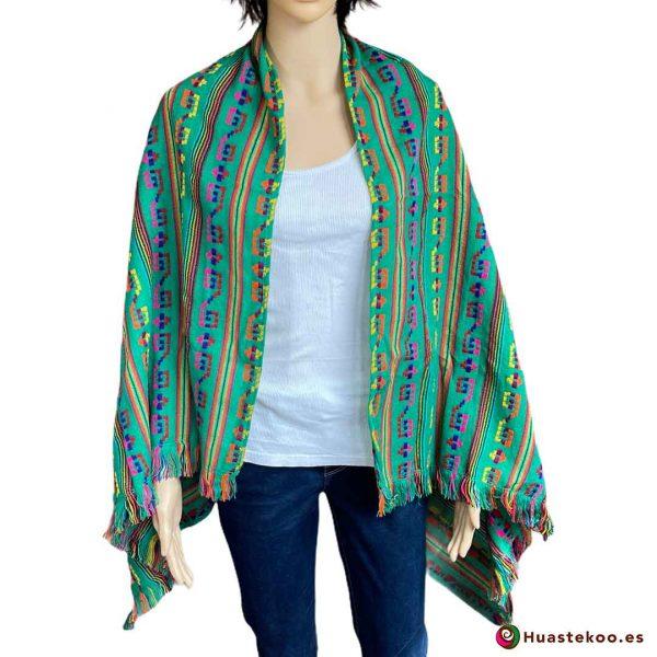 Rebozo (Fular) Mexicano verde H00004 de venta en la tienda mexicana online Huastekoo España - 3