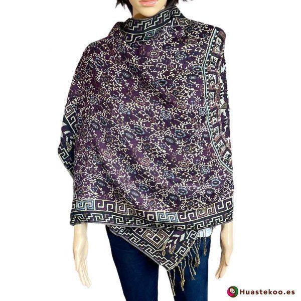 Rebozo mexicano (fular) color cálido - Tienda de ropa mexicana Huastekoo España H00008
