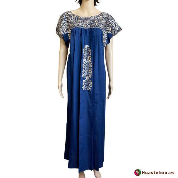 Vestido Mexicano San Antonino Bordado a Mano H00731 - Tienda de Artesanía, Regalos y Ropa Mexicana Huastekoo España