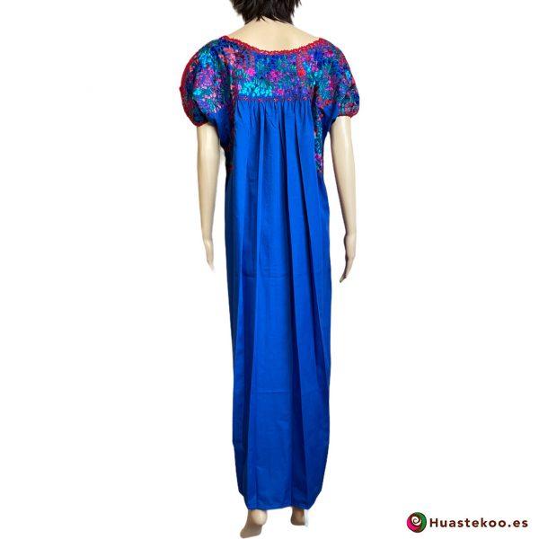 Vestido mexicano artesanal San Antonino bordado a mano - Tienda de Artesanía, Regalos y Ropa Mexicana Huastekoo España - H00730 - 2