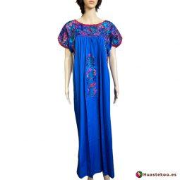 Vestido mexicano artesanal San Antonino bordado a mano - Tienda de Artesanía, Regalos y Ropa Mexicana Huastekoo España - H00730