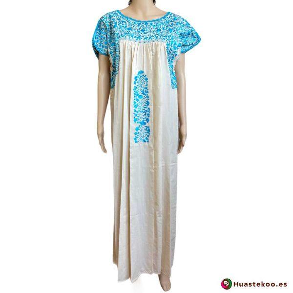 Vestido mexicano artesanal San Antonino bordado a mano - Tienda de Artesanía, Regalos y Ropa Mexicana Huastekoo España - H00727