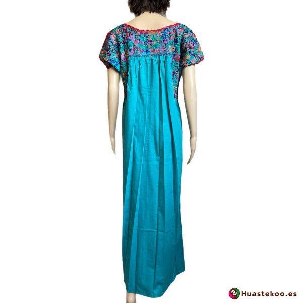 Vestido Mexicano San Antonino Bordado a Mano H00732 - Tienda de Ropa Mexicana Huastekoo España - 2