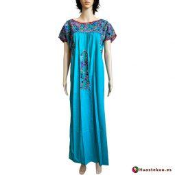 Vestido Mexicano San Antonino Bordado a Mano H00732 - Tienda de Ropa Mexicana Huastekoo España