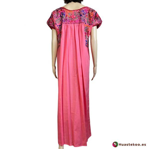 Vestido mexicano artesanal San Antonino bordado a mano - Tienda de Artesanía, Regalos y Ropa Mexicana Huastekoo España - H00726 - 2