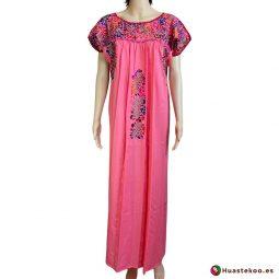 Vestido mexicano artesanal San Antonino bordado a mano - Tienda de Artesanía, Regalos y Ropa Mexicana Huastekoo España - H00726