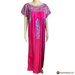 Vestido San Antonino color rosa mexicano - Tienda online de ropa mexicana Huastekoo España - H00724 - 5