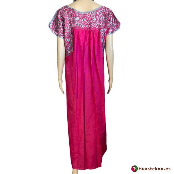 Vestido San Antonino color rosa mexicano - Tienda online de ropa mexicana Huastekoo España - H00724 - 6