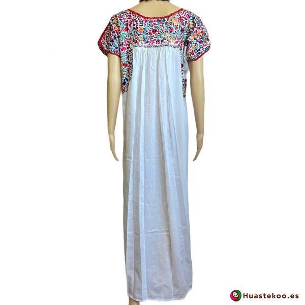 Vestido mexicano artesanal San Antonino bordado a mano - Tienda de Artesanía, Regalos y Ropa Mexicana Huastekoo España - H00725 - 2
