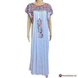 Vestido mexicano artesanal San Antonino bordado a mano - Tienda de Artesanía, Regalos y Ropa Mexicana Huastekoo España - H00725